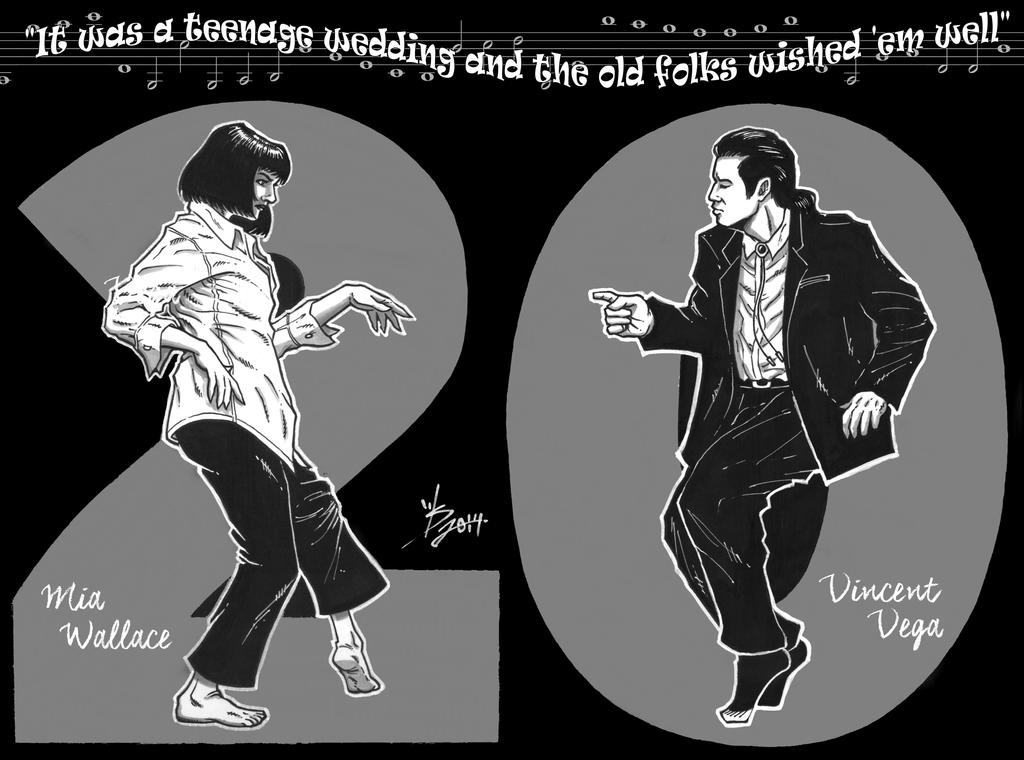 Pulp Fiction 20 Years Anniversary by broken-nib