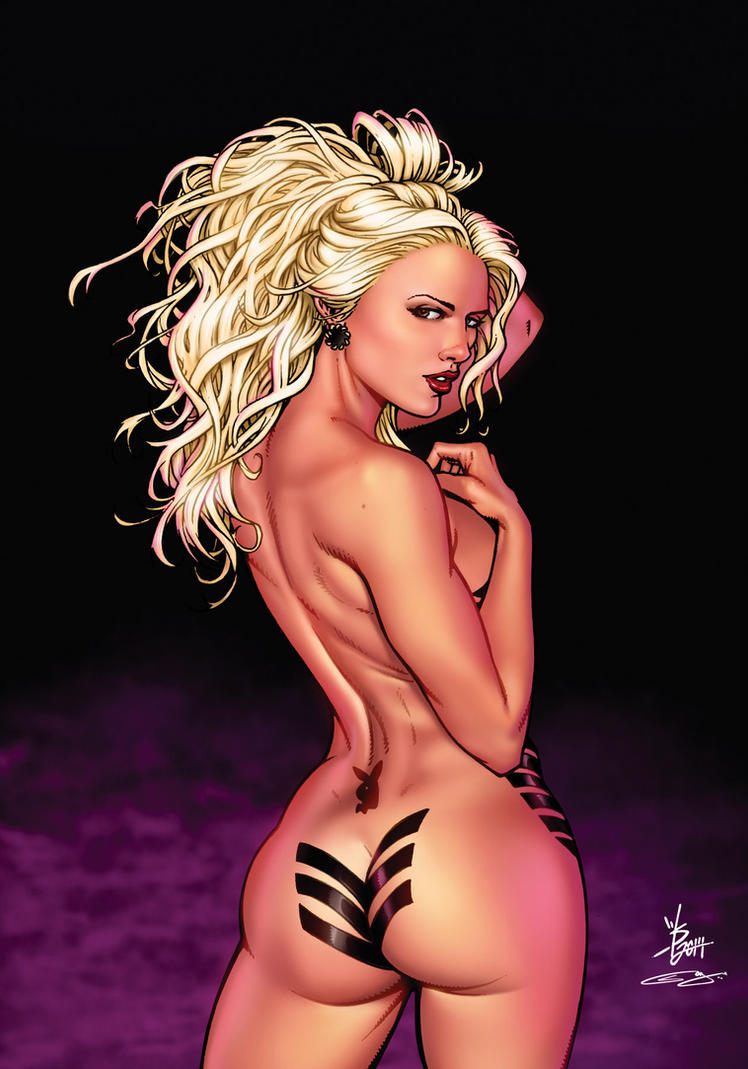 Playmate Marissa Digital Colors by broken-nib