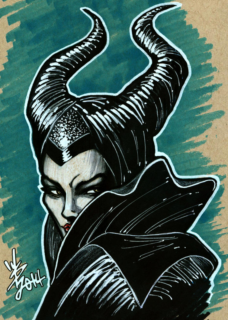 Maleficent Sketch by broken-nib