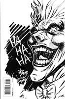 The Joker back cover sketch by broken-nib