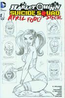 Harley Quinn Cover pencils by broken-nib