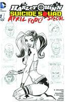 Harley Quinn Sketchcover inked by broken-nib