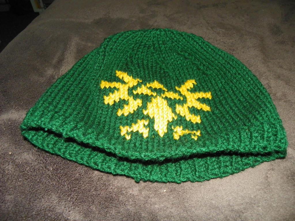 Crochet Zelda Hat : Triforce Hat