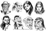 Some face sketches