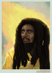 Bob Marley portrait painting by eydii