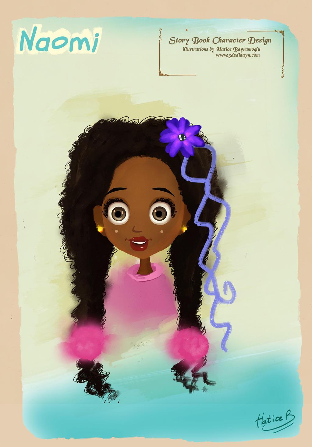 girl portrait illustration by eydii