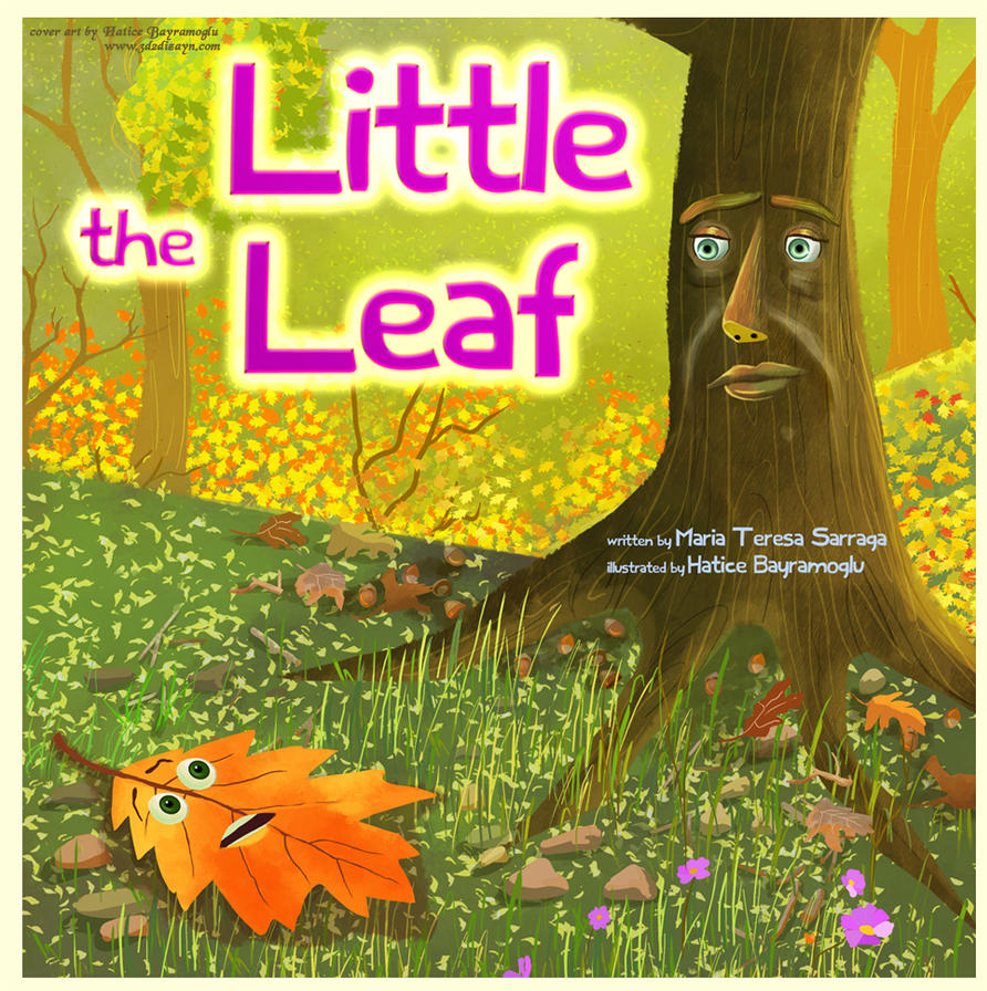 the little Leaf book cover art design by eydii by eydii