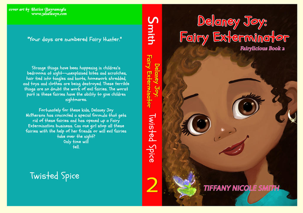 Delaney JoyFairy Exterminator book cover art desig by eydii