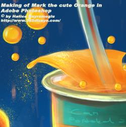 Cartoon Orange Profile by eydii
