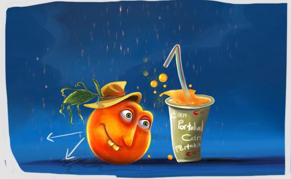 Cartoon Orange Painting Tutorial 11 by eydii