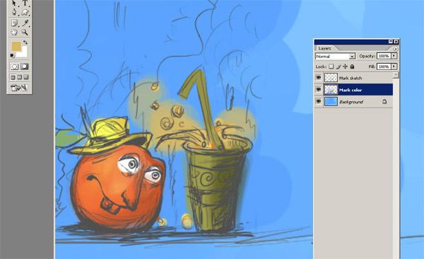 Cartoon Orange Painting Tutorial 5 1 by eydii