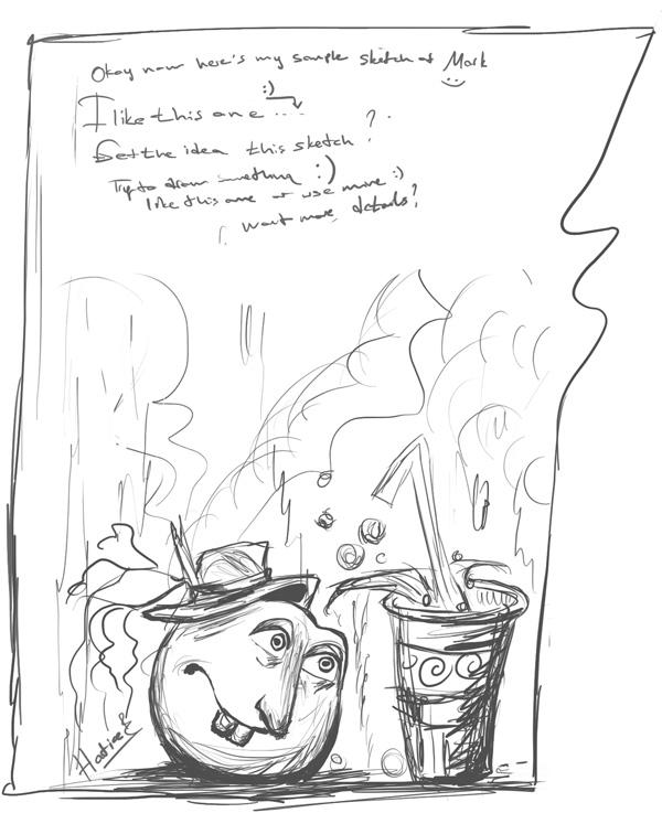 Cartoon Orange Painting Tutorial 2 by eydii