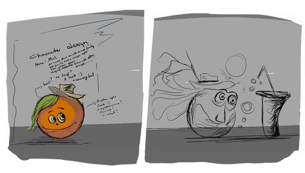Cartoon Orange Painting Tutorial 1 by eydii