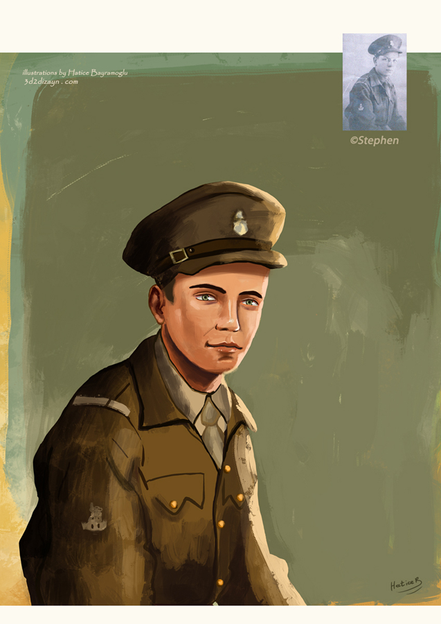 cartoon-Young-man-portrait painting by eydii