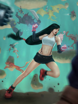 Tifa FFVII fan art.