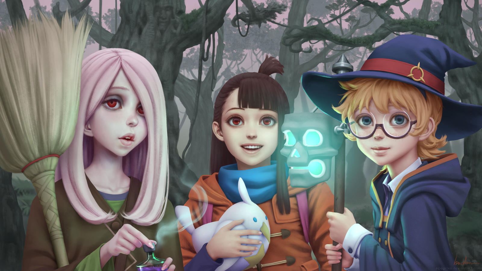 Little Witch Academia Fanart By Apegrixs On Deviantart