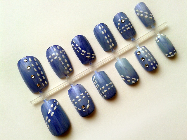 Denim Nails by nail-artisan on DeviantArt
