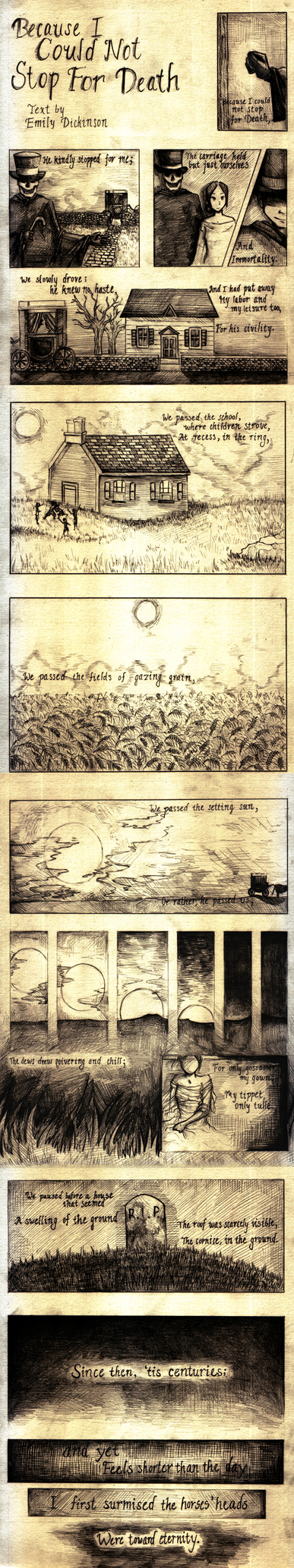 Comics-ified Dickinson Poem by xyai