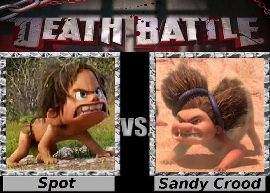 death battle spot vs sandy crood by gloverboy23 on deviantart