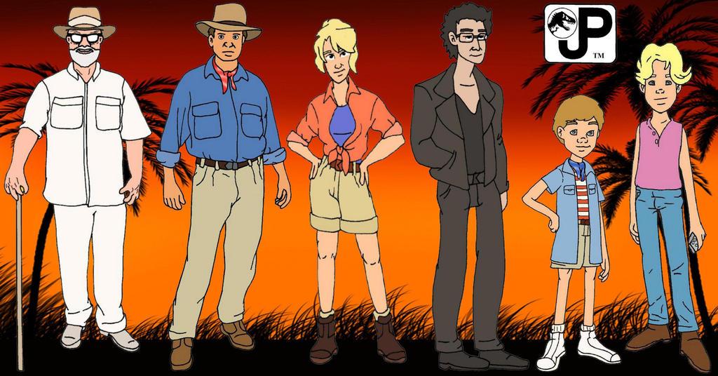 Jurassic Park cast with BG by Gloverboy23 on DeviantArt