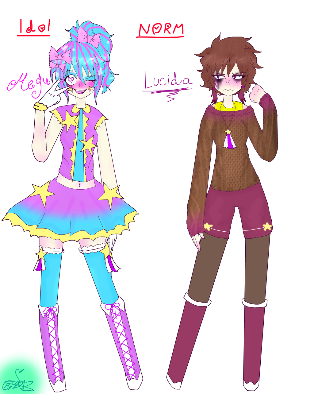My Weird OC: Megu/Lucida by MikuBlazeTheKat