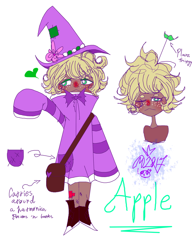 My Weird OC: Apple by MikuBlazeTheKat