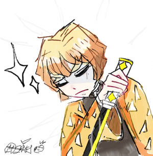-quick zenitsu doodle-
