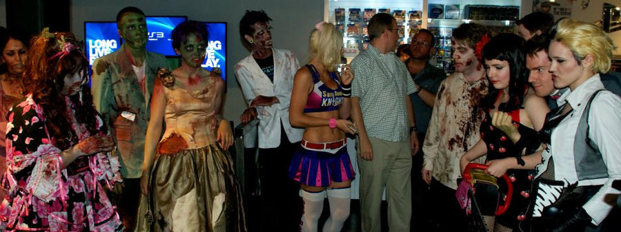 More Zombie pics from the event. by Kamikazemiko