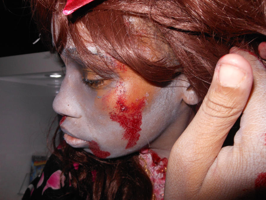 Heat and make up don't mix. by Kamikazemiko