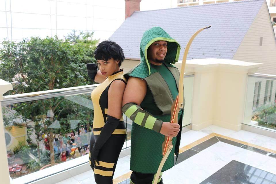 Vixen and Green Arrow by Kamikazemiko