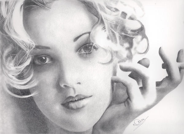 Drew Barrymore by Karentownsend