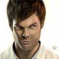 Dexter Morgan White BG by FEARedound