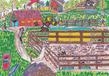 -Happy farmer childhood location. by Warikoze