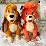 Fox and the hound plush Tod and Copper