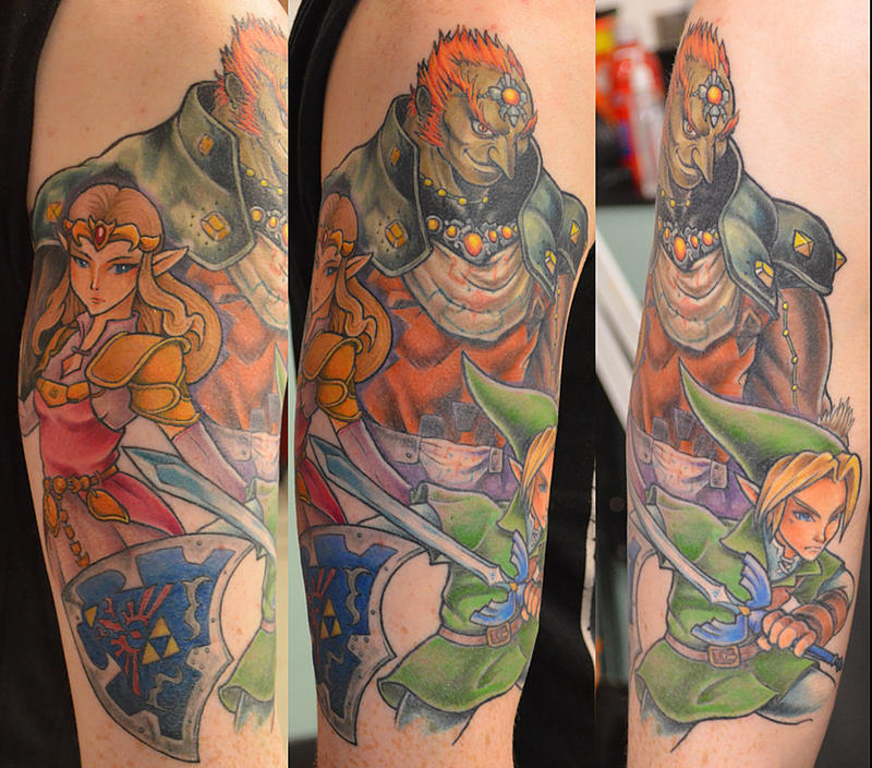 Zelda half sleeve by kayleytatts