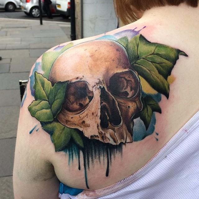 Ivy Skull by kayleytatts