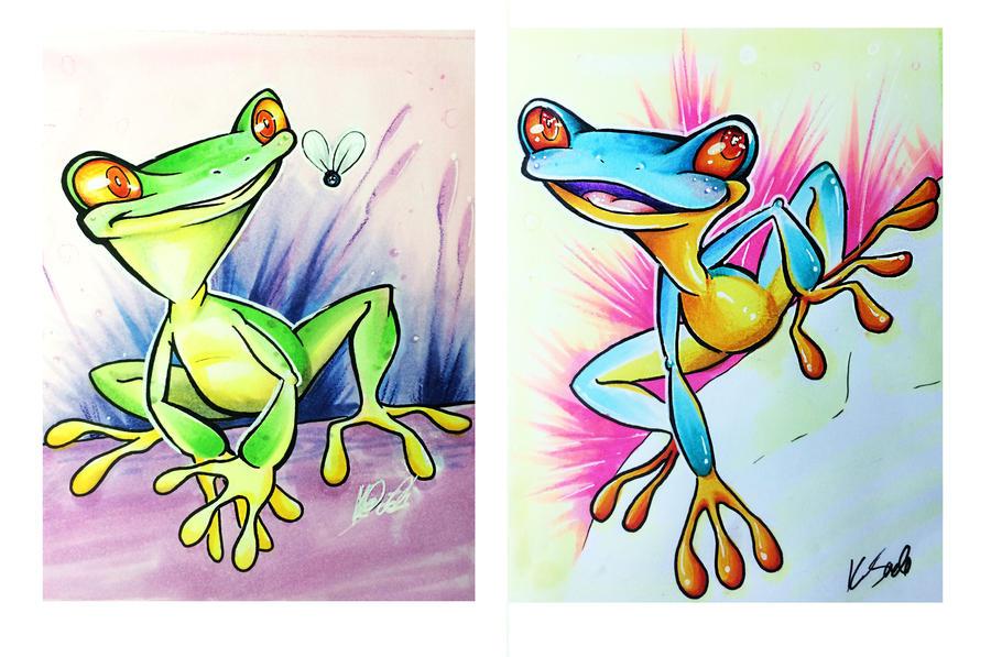 Frogs!! by kayleytatts