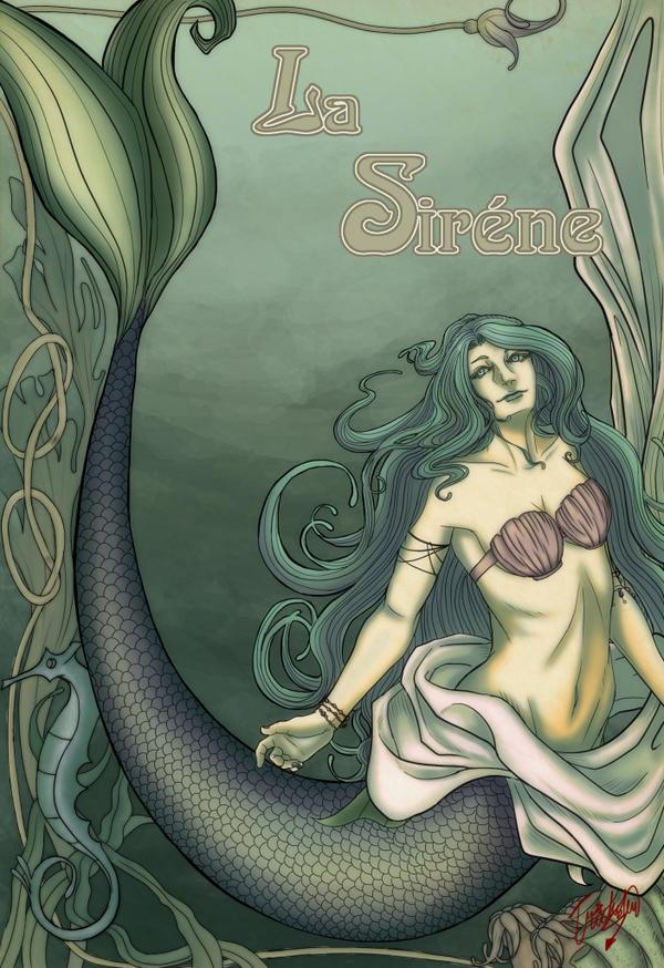 Art Nouveau Mermaid by UmiMizuno