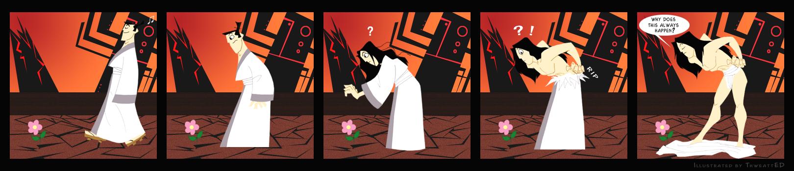 Samurai Comic Strip