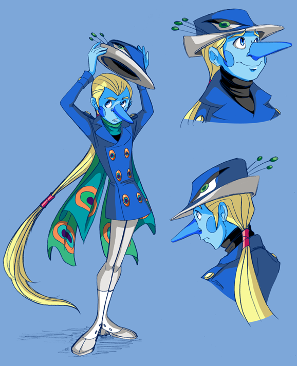 peacock peacoat by thweatted