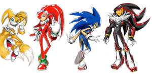 Sonic/NiGHTS Team by thweatted