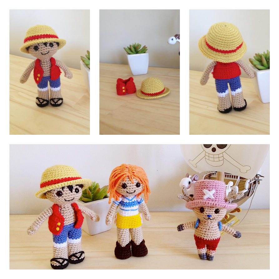 Monkey D. Luffy Amigurumi Doll by fiftythreestitches on ...