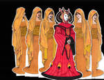 Amidala's Theed Invasion Gown and Gold Handmaidens
