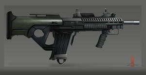 Bullpup assault rifle concept by CestroArt