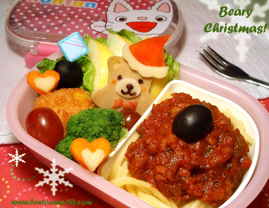 Beary Christmas Bento by Natakiya