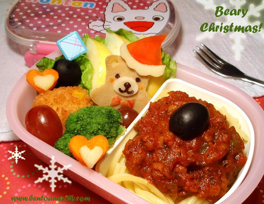 Beary Christmas Bento by Natakiya