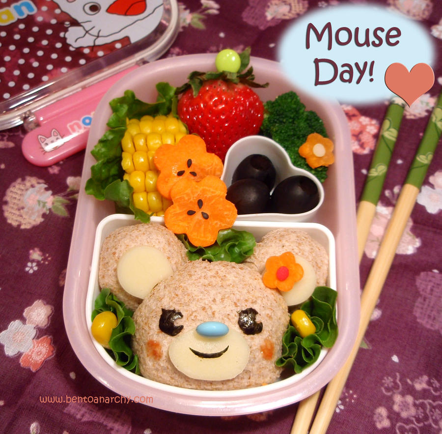Mouse Day Bento by Natakiya