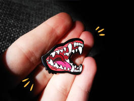FOR SALE! Doggy mouth enamel pins by Canis-Infernalis