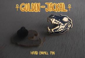 Golden Jackal-enamel pins by Canis-Infernalis