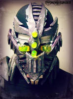 ''Exoplanet'' gas mask/half face DJ mask by TwoHornsUnited